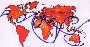 immagine di flussi migratori