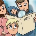 genitori che guardano la pagella